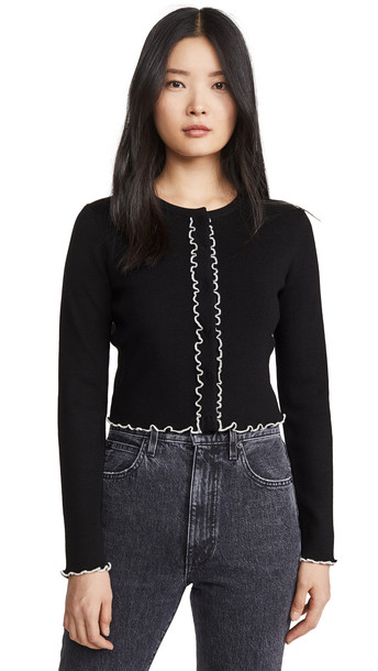 Victor Glemaud Cropped Cardigan in black