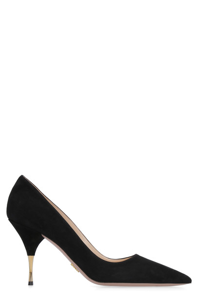 Prada Suede Ponty-toe Pumps in black