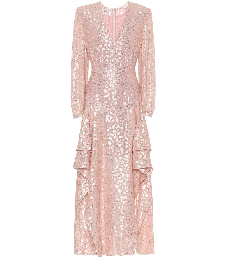 Stella McCartney Fil coupé gown in pink
