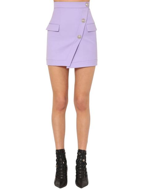 BALMAIN Grain De Poudre Mini Skirt in lilac