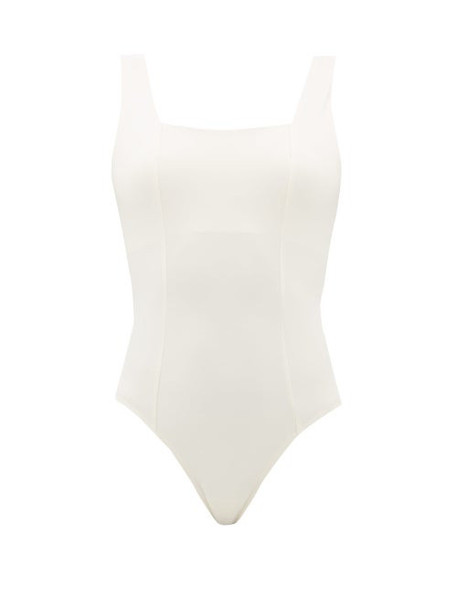 Vaara - Mariah Shelf-bra Jersey Bodysuit - Womens - Cream