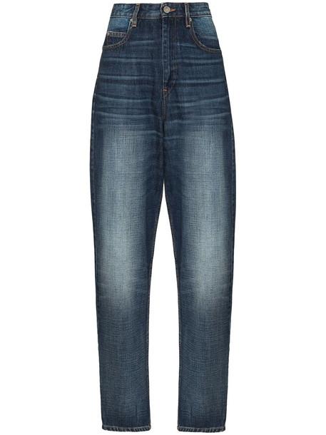 Isabel Marant Étoile boyfriend high-waisted faded jeans - Blue