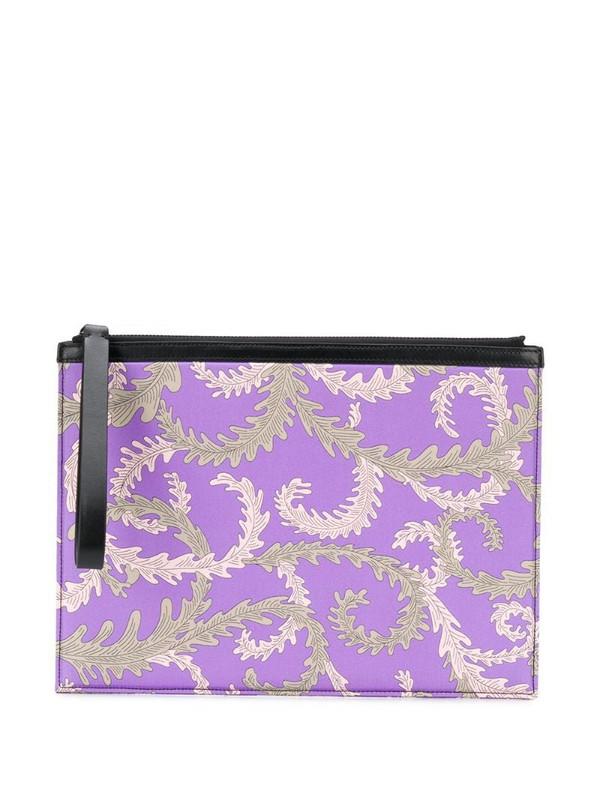 Emilio Pucci x Koché printed clutch in purple
