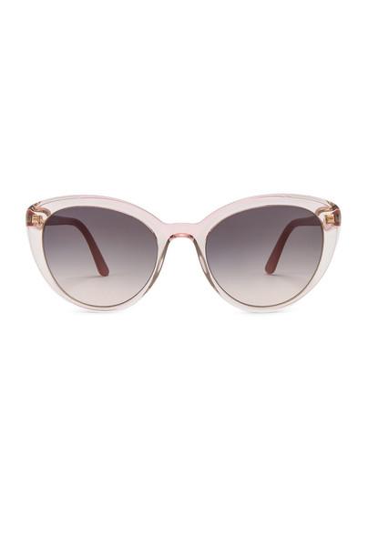 Prada Cinema Round Acetate Sunglasses in pink
