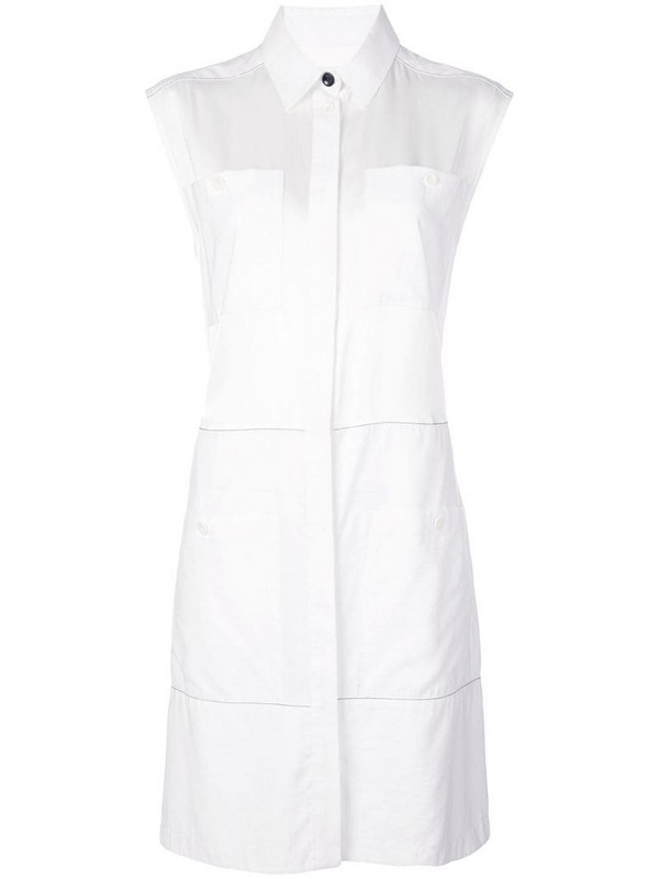 Proenza Schouler White Label Sleeveless Shirt Dress in white