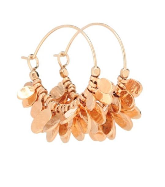 Isabel Marant Embellished hoop earrings in gold