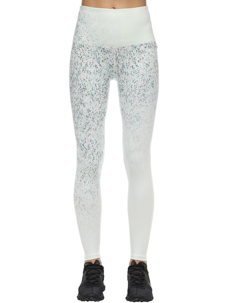 PRANA Kimble Printed Performance 7/8 Legging in white / multi
