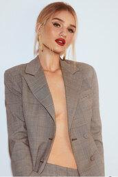 jacket,rosie huntington-whiteley,celebrity,model off-duty,instagram,blazer