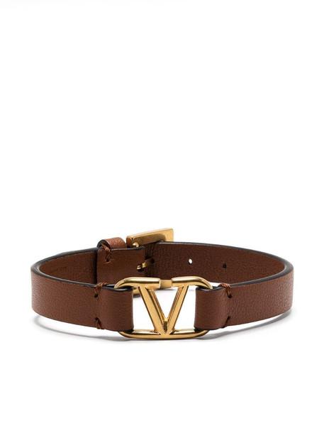 Valentino Garavani VLOGO buckled bracelet in brown