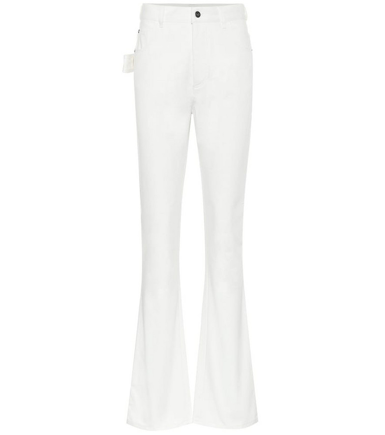 Bottega Veneta High-rise flared jeans in white