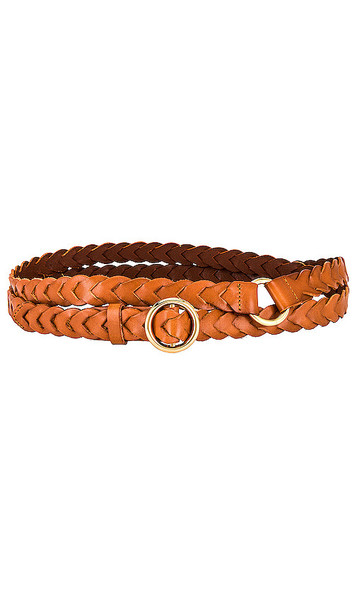 FRAME Braided Petit O Ring Double Wrap Belt in Brown in natural