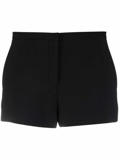 Versace high-waisted crepe shorts - Black