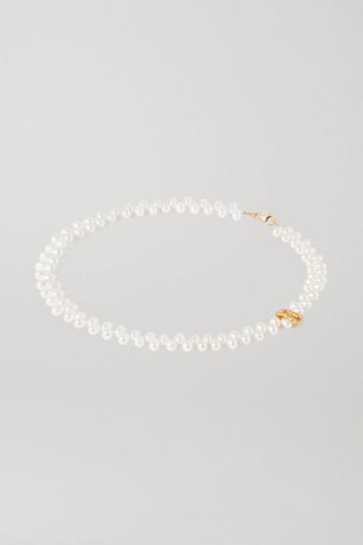 Alighieri - La Calliope Gold-plated Pearl Necklace