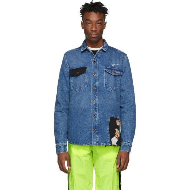 Off-White Blue Restructured Shirt