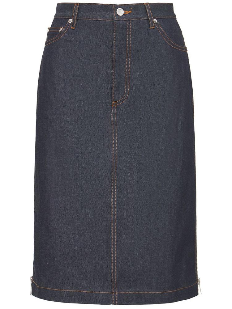 A.P.C. Mai Straight Denim Mini Skirt in blue