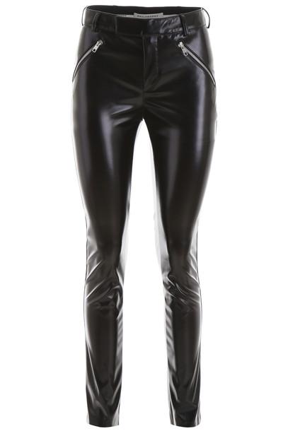 Philosophy di Lorenzo Serafini Vegan Leather Trousers in black