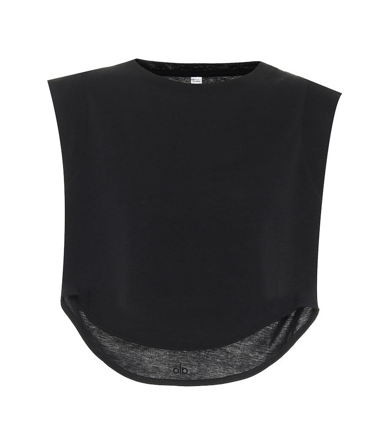 Alo Yoga Echo sleeveless crop top in black
