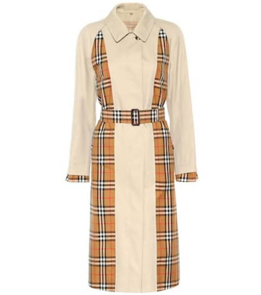 Burberry Vintage Check cotton trench coat in beige / beige