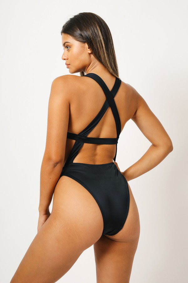 swimwear kaohs swimwear ishine365 shop ishine365 black one piece swimsuit strappy one piece swimwear cut out one piece