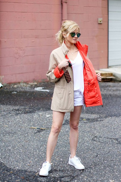 kim tuttle the knotted chain - a style blog by kim tuttle blogger t-shirt shorts shoes sunglasses bag