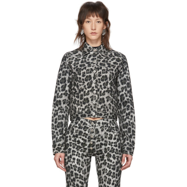 Miaou Grey Leopard Lex Jacket