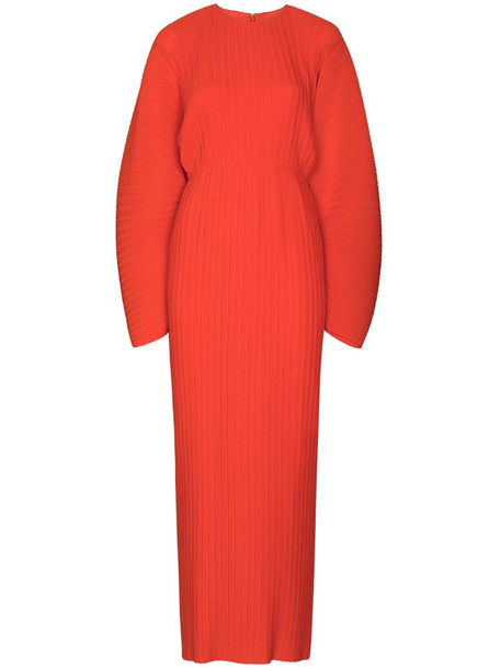 Solace London mirabelle ribbed maxi dress in orange
