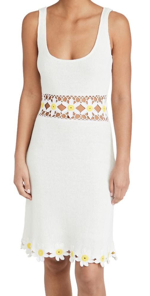 STAUD Margherita Dress in white