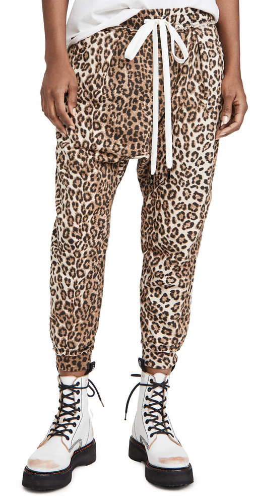 R13 Harem Sweatpants in leopard