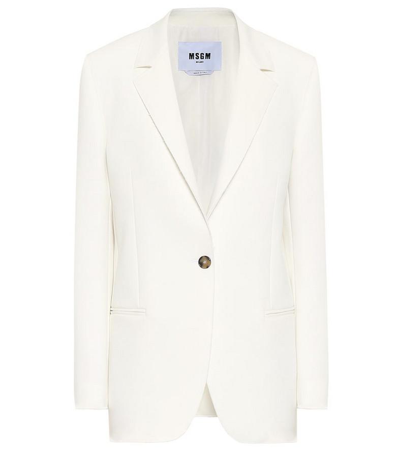 MSGM Stretch-cady blazer in white