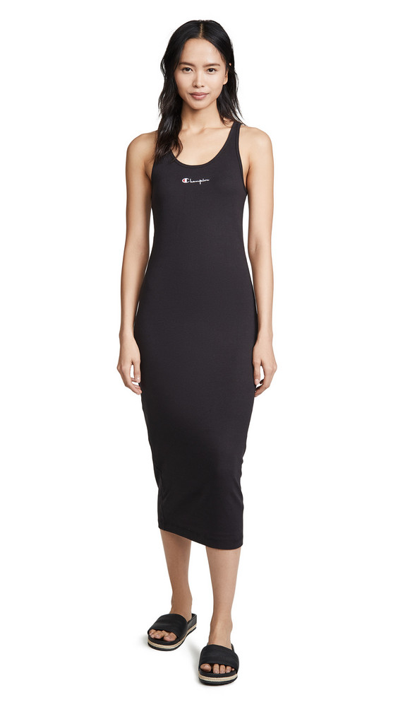 Champion Premium Reverse Weave Racerback Dress in black