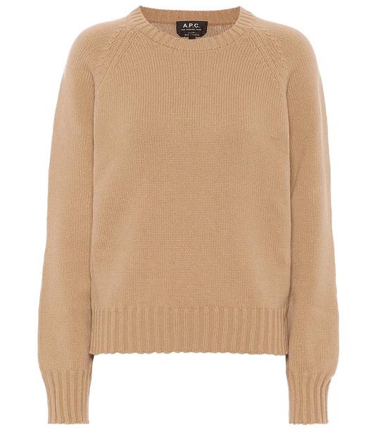 A.P.C. Alyssa wool sweater in brown