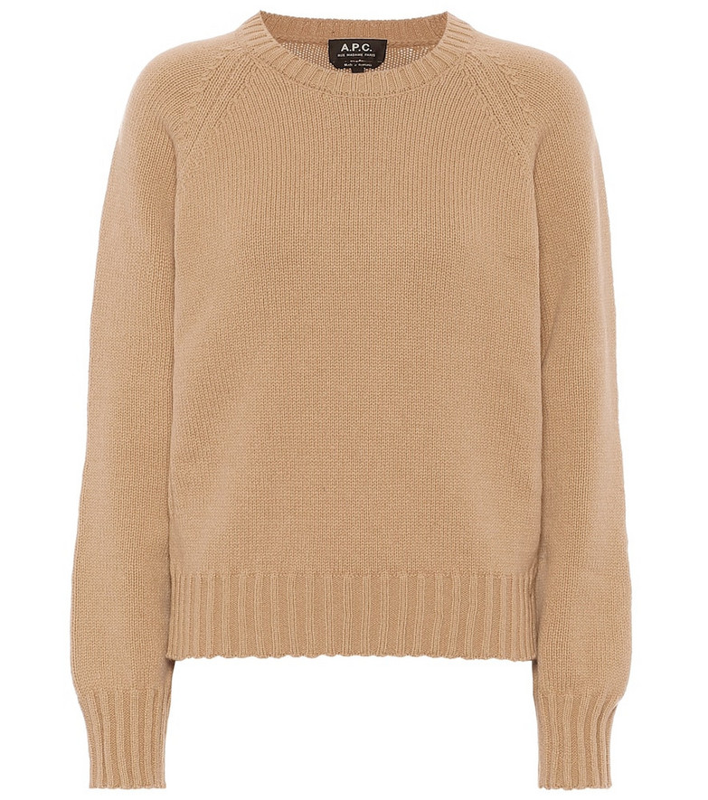A.P.C. Alyssa wool sweater in brown