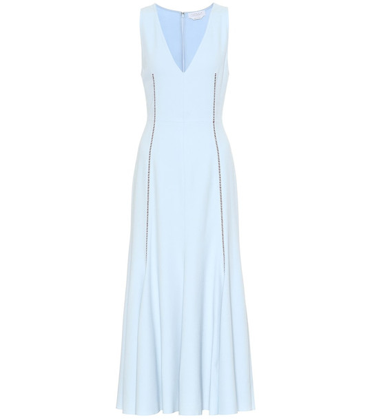 Gabriela Hearst Annabelle wool and silk dress in blue