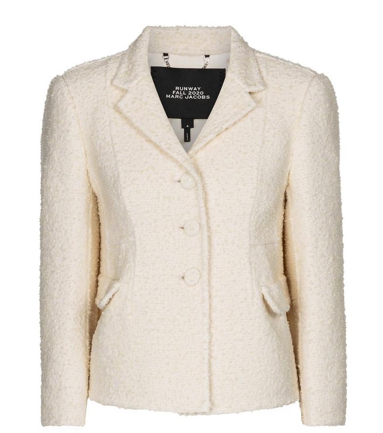 Marc Jacobs Wool-blend bouclé blazer in white