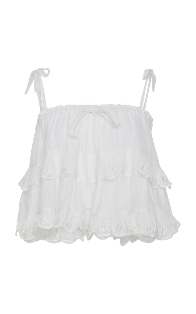 Innika Choo Two Tier Cotton Top in white