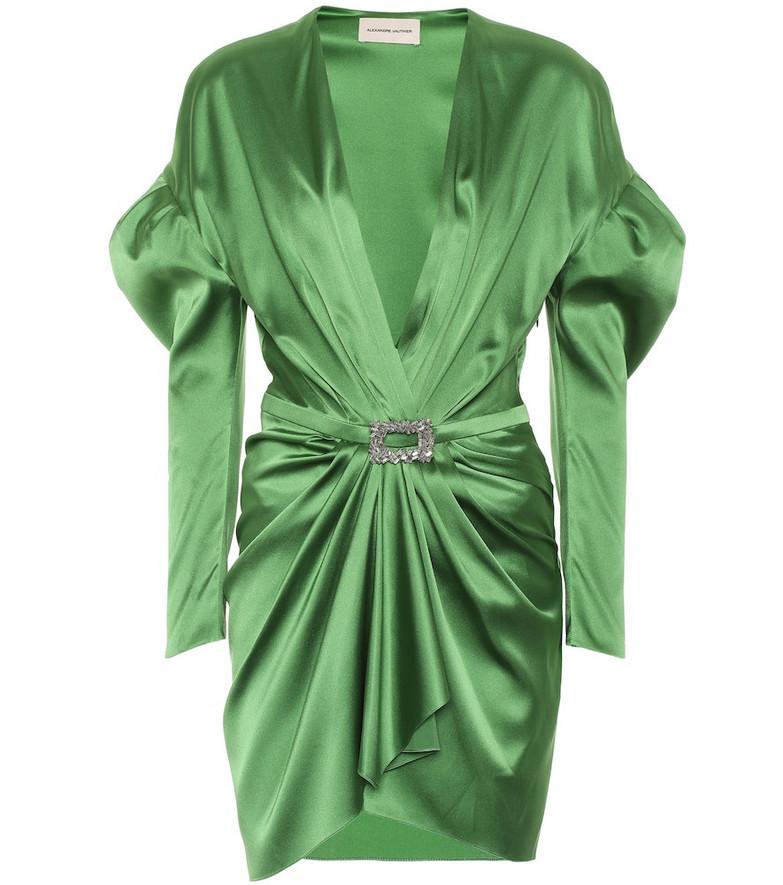 Alexandre Vauthier Stretch silk-satin dress in green