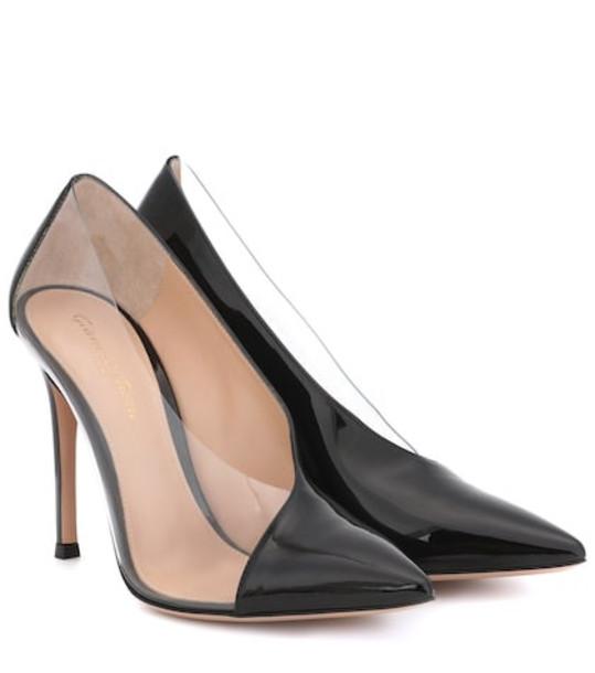 Gianvito Rossi Deela patent leather pumps in black