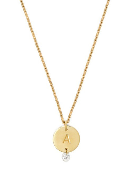 Raphaele Canot - Set Free 18kt Gold & Diamond A Charm Necklace - Womens - Gold