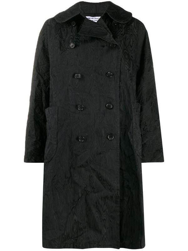 Comme Des Garçons Comme Des Garçons textured double-breasted coat in black