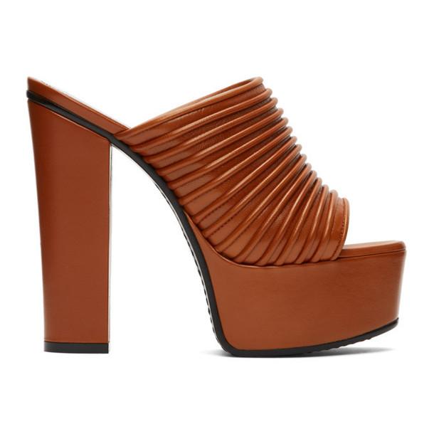 Givenchy Orange Platform Mules
