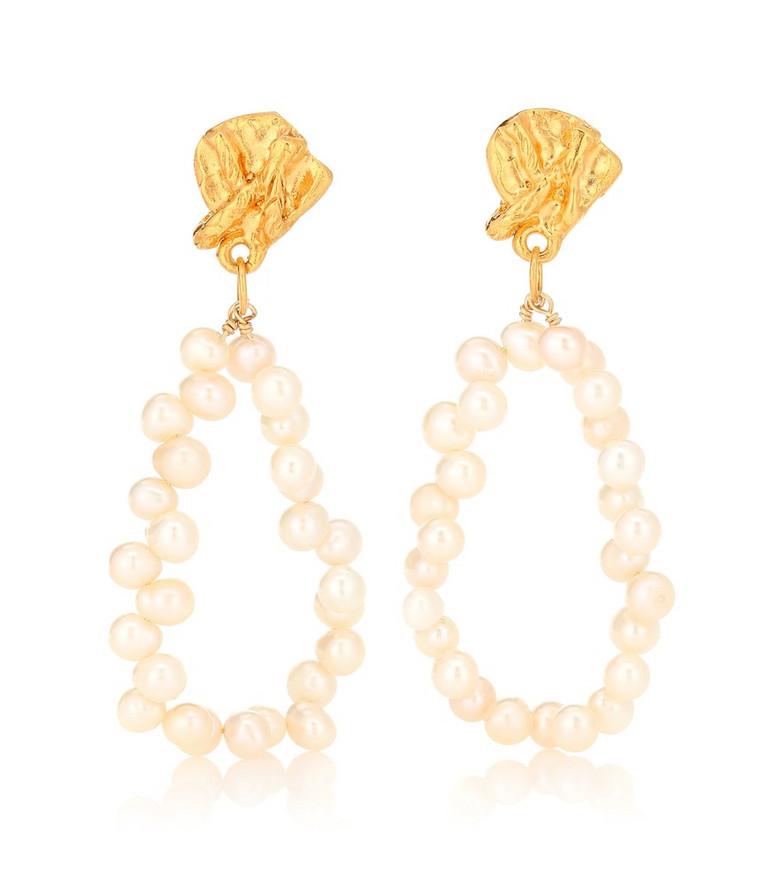 Alighieri Apollos Story pearl earrings in white