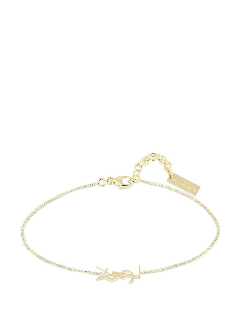SAINT LAURENT Ysl Logo Fin Bracelet in gold