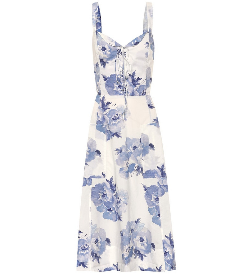 Polo Ralph Lauren Exclusive to Mytheresa – Floral cotton midi dress in blue