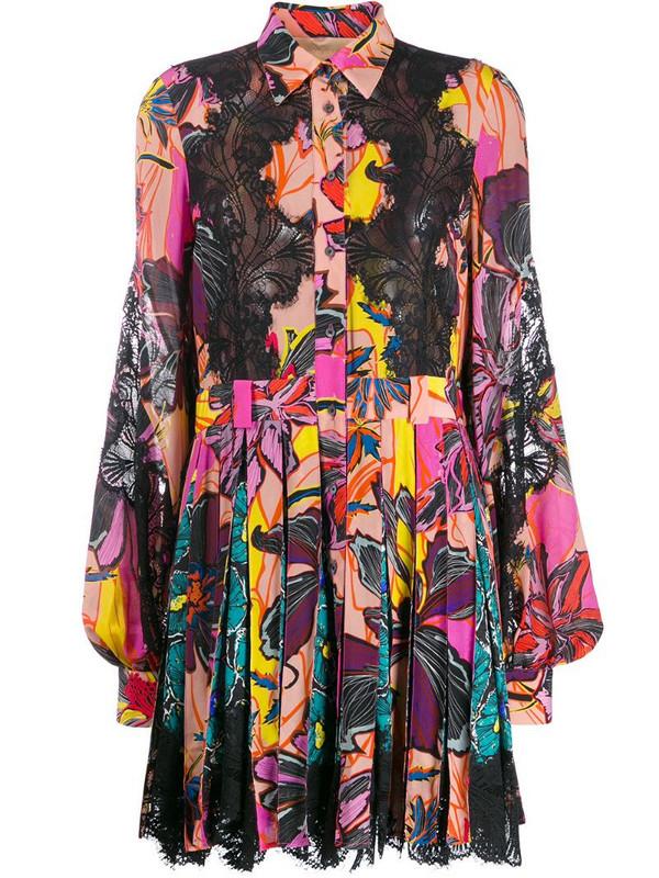 Antonio Berardi floral-print shirt dress in black