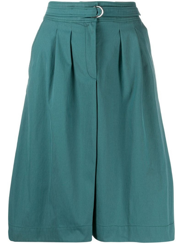 A.P.C. belted A-line skirt in blue