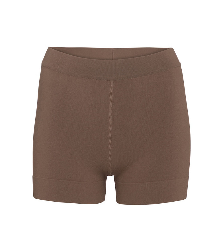 Alaïa Stretch-knit shorts in beige