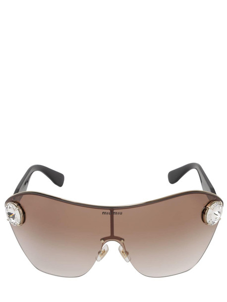 MIU MIU Enchant Metal Sunglasses W/ Crystals in purple
