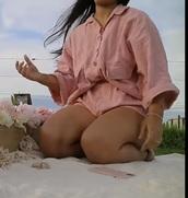 blouse,pink blouse oversized