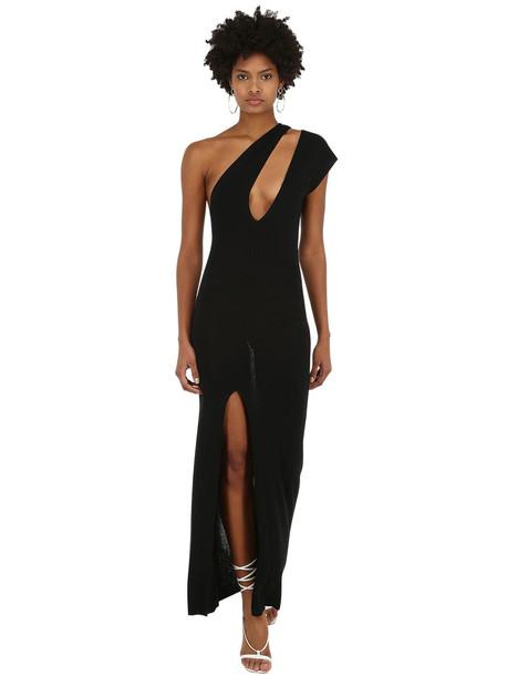 JACQUEMUS La Robe Azur Knit Dress W/cutout in black