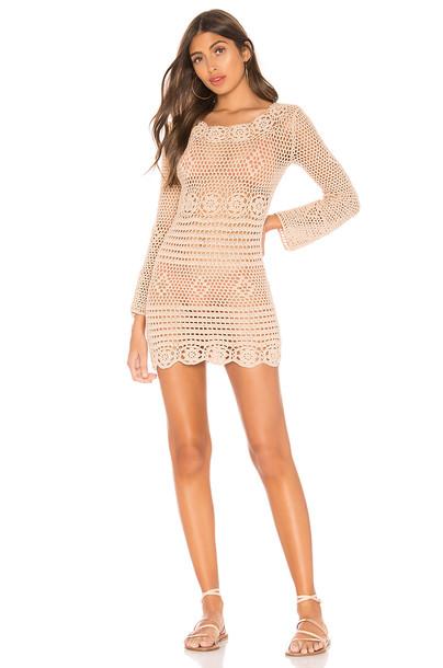 MAJORELLE Lucy Dress in tan